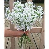 Ainest Lot 6pc 12pc White Babys Breath Artificial Silk Flower Wedding Floral Art Decor 12pcs