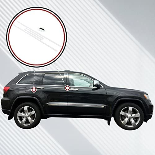 2011-18 fits Jeep Grand Cherokee 4pc Invisible Door Edge Guards Custom Fit Clear