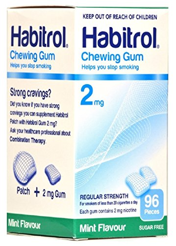 Habitrol 2mg MINT Flavor Nicotine Quit Smoking Chewing Gum. 4 Boxes of 96 each (384 pieces)