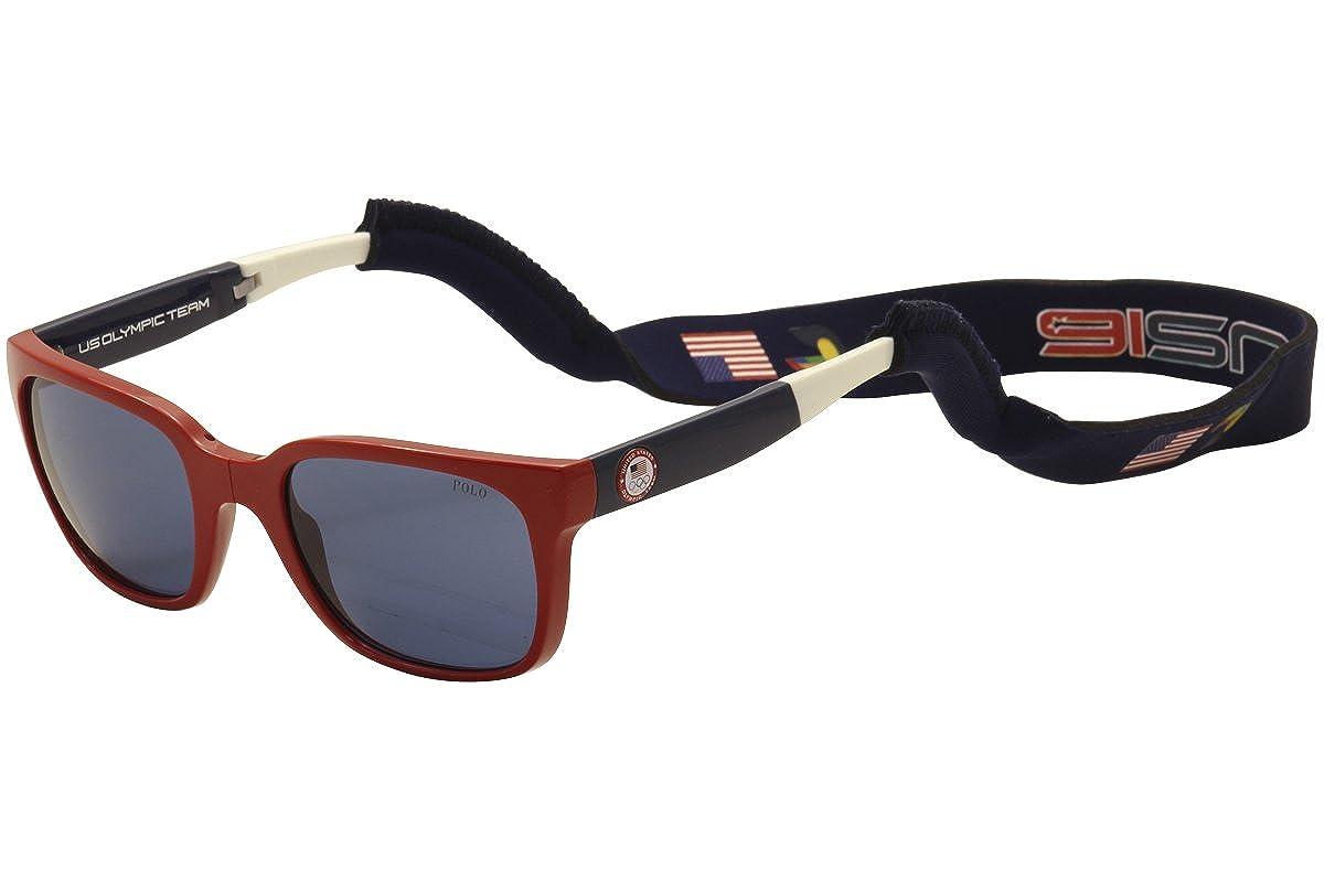 Polo PH4111 Sunglasses 559480-54 Blue Shiny Red Frame