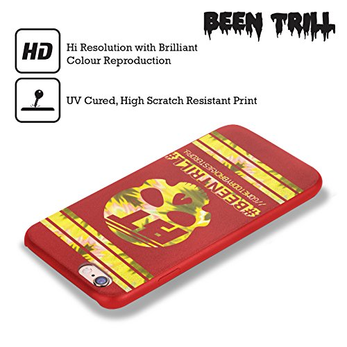 Official Been Trill Gold Colourful Prints Red Leather Back Case Cover For Apple iPhone 6 / 6s
