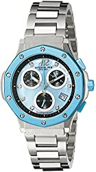 Stuhrling Original Women's 180.121181 Aquadiver Cosmo Quartz Chronograph Date Swarovski Crystal Mother of Pearl Dial Watch