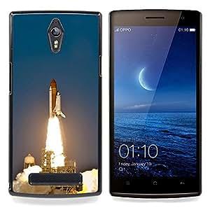 """Qstar Arte & diseño plástico duro Fundas Cover Cubre Hard Case Cover para OPPO Find 7 X9077 X9007 (Lanzamiento del transbordador espacial"""")"""