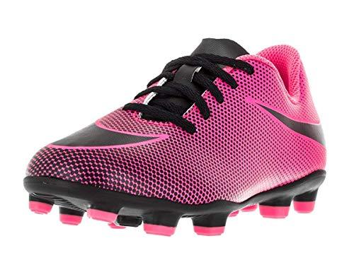 Nike Jr. Bravata II (FG) Firm-Ground Soccer Cleat Pink Blast/Black, 3 Little Kid