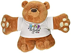 "Ganz 12"" Huggleton Bear Happy Birthday Plush Toy"