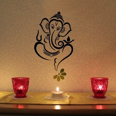 Buy Akki World Ganesh Ji Wall Sticker Pvc Vinyl 58 Cm X68 Cm