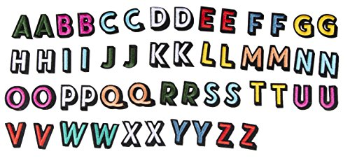 - Letter Patches - 52-Piece Alphabet Applique Patches, Iron on Patches, DIY Embroidered Patches for Hats, Jackets, Shirts, Vests, 2 Sets of 26 Letters, Multicolored, 1.375 x 1 Inches