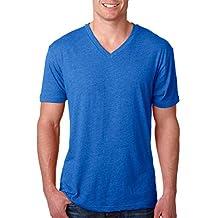 Next Level Apparel Men's TriBlend V-Neck T-Shirt, Vintage Royal, X-Large