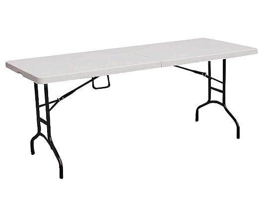 HOMEBASIX tbl-072 portátil mesa plegable de 6 , color blanco ...