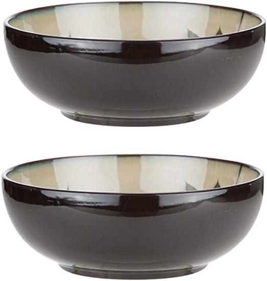 Miyabitors 9 Pulgadas Ramen Juego De Tazones, 2 Piezas De Cerámica De Uso Doméstico Tazones De Sopa, Sopa De Estilo Japonés Cuencos Set, por Ramen, Pho, Fideos: Amazon.es: Hogar