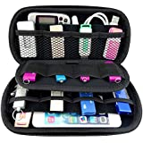 Ropch Usb Flash Drive Case Holder, Portable Carrying Case Bag Storage Organizer for for U Disk USB Drive SD Memory Card Black