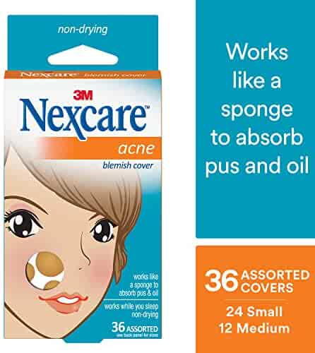 Nexcare Acne Absorbing Cover, Gentle, Day or Night, 36 Count