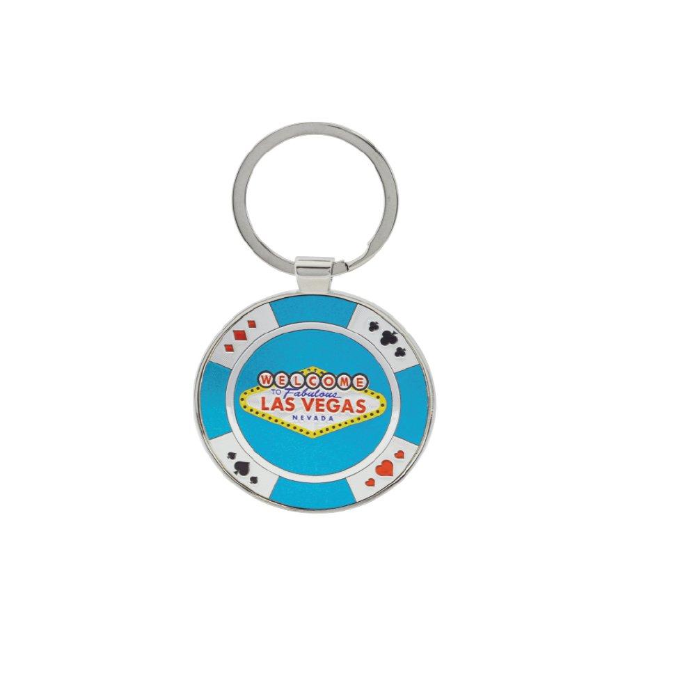 Keychain Las Vegas Sign Casino Chip Key Chain - Las Vegas Souvenir and Gift (Purple)