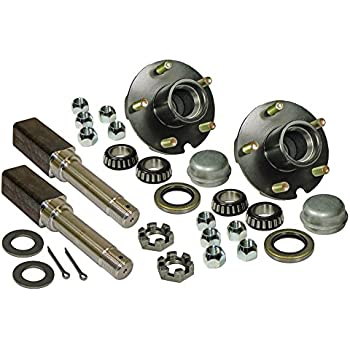 """Build Your Own TRAILER AXLE KIT 3500 lb SQUARE Spindles Idler 5 on 5/"""""""