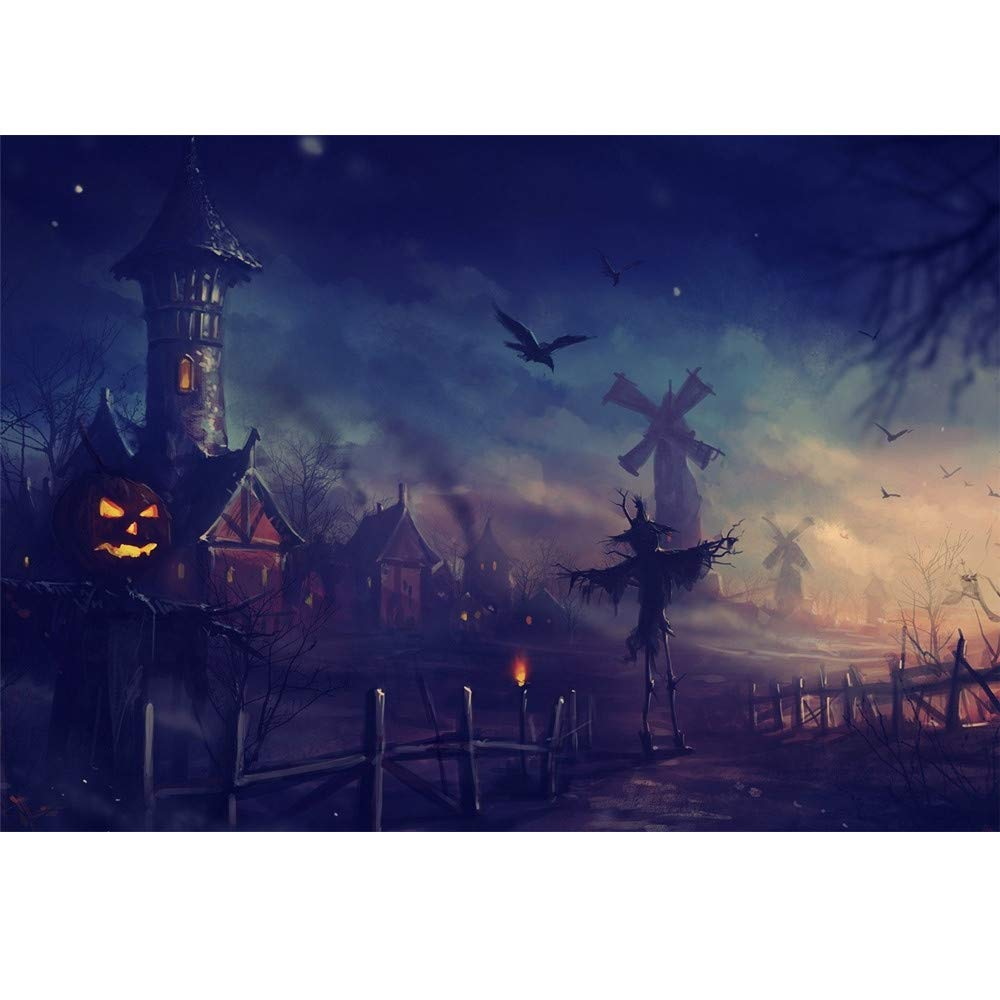 5D DIY Halloween Scary Diamond Painting Full Drill Embroidery Cross Stitch Crafts Art Home Wall Decor Gift by Swyss 15.7x11.8inch (C)