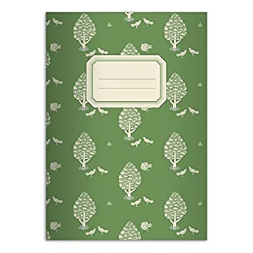Schreibhefte mit Central Park Motiv Kartenkaufrausch 4 sch/öne Retro DIN A4 Schulhefte blau Lineatur 20 blanko Heft