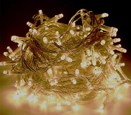 roof-bolter String Lights,Indoor/Outdoor Decoration Lights LED String Light Fairy Lights Plug in for Bedroom Garden,Wedding,Xmas Party (100led 32.5feet/10meters) Warm White