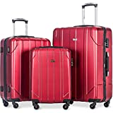 Merax 3 Piece P.E.T Luggage Set Eco-friendly Light Weight Spinner Suitcase