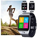 Indigi® Universal Smart Watch & Phone Bluetooth iPhone Android GSM Unlocked AT&T T-mobile Straight Talk (Silver)