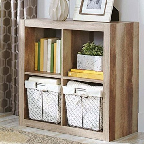 4-Cube Weathered Versatile Design Creates Multiple Storage Solutions Compatible With 13
