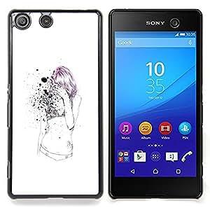 - Emo Sexy Skinny Girl - - Cubierta del caso de impacto con el patr??n Art Designs FOR Sony Xperia M5 Queen Pattern