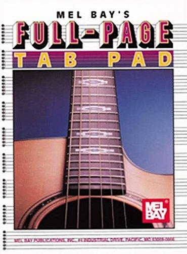 Mel Bay Full-Page Tab Pad