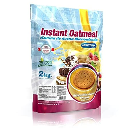 Quamtrax Nutrition Biscuit Custard Cream Avena Instantánea - 2000 gr: Amazon.es: Salud y cuidado personal