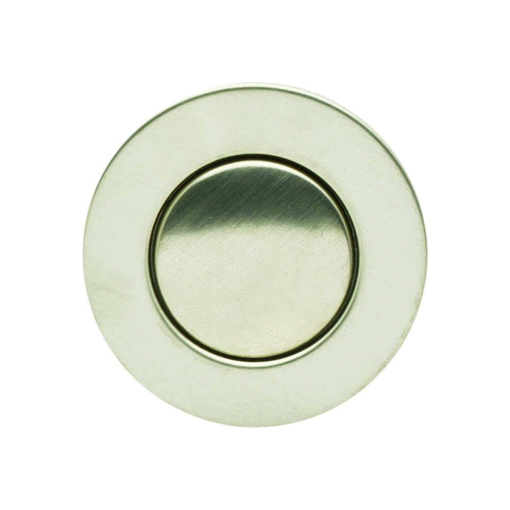 PF WaterWorks PF0712S-BN-WSDecoDRAINHair Catcher Push Pop-Up Sink Drain with Overflow Plated ABSCap Dia 1.3 in.Brushed Nickel1Piece