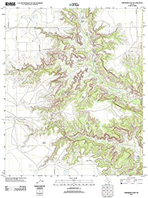 Cliff On A Topographic Map.Amazon Com Topographic Map Poster Fortress Cliff Tx Tnm Geopdf