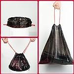 Zerdyne-Papeleras-negras-de-30-L-con-cordon-208-bolsas-Bolsas-de-basura