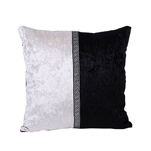 Kinghard Porcelain Pillow Case Cafe Home Decor Cushion Covers (Black)
