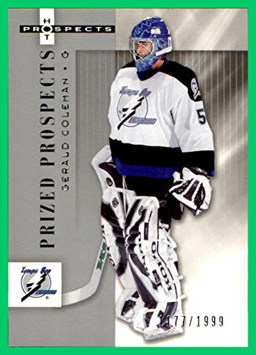 2005-06 Hot Prospects #170 Gerald Coleman RC SERIAL #1177/1999 TAMPA BAY LIGHTNING - Coleman Tampa Bay