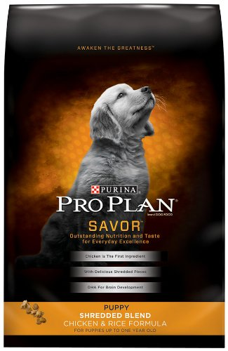 Purina Pro Plan Dry Puppy Food, Shredded Blend Chicken and Rice Formula, 18-Pound Bag, My Pet Supplies
