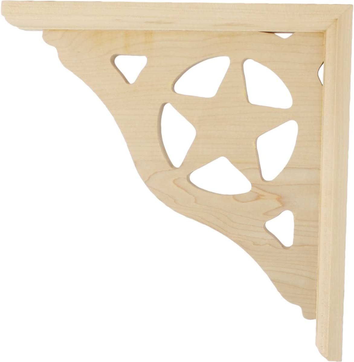 Ready to be Stained Ekena Millwork BKT01X10X10AUCH-CASE-6 Austin Bracket Cherry