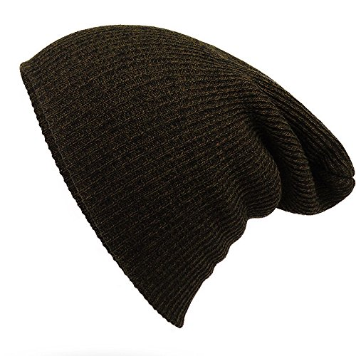 Striped Needle Warm Hat - iParaAiluRy Unisex Luxurious Fashionable Soft Slouchy Knitting Wool Cap Beanie Hat in Winter and