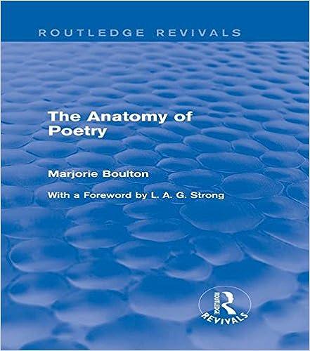 Amazon The Anatomy Of Poetry Routledge Revivals Ebook