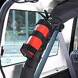 Fits Jeep Wrangler Adjustable Roll Bar Fire Extinguisher Holder Straps Mount for JK JKU JL TJ CJ