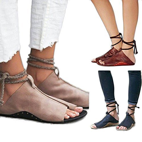 2bf646367cef sun blinkers Flip Flop Flat Sandal Summer Sandals for Women Lace Up  Comfortable Casual Summer Closed
