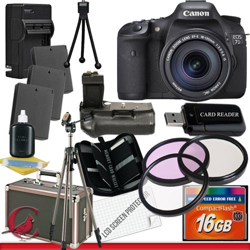 UPC 662425805167, Canon EOS 7D 18 MP CMOS Digital SLR Camera with 3-Inch LCD and 18-135mm f/3.5-5.6 IS UD Lens 32GB Package