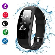 Helthyband H107 Plus Fitness Tracker Device, Heart Rate Monitor, Pedometer, Sleep tracker,Calorie Counter, 14 Sport Mode Waterproof Activity Tracker with Call/SMS Remind for iOS/Android Cellphone