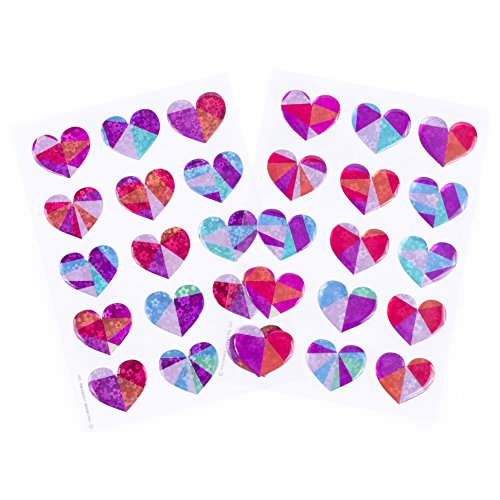 Hallmark Stickers 30 Count (Prism Hearts) ()
