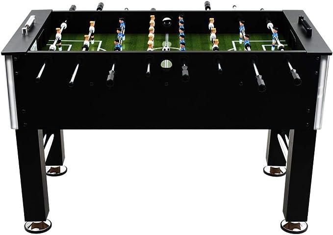 Tidyard Futbolín de Mesa con Patas Ajustables para Competiciones Individuales o Juegos de Grupo,MDF y Acero 60kg,140x74,5x87,5cm Negro: Amazon.es: Hogar