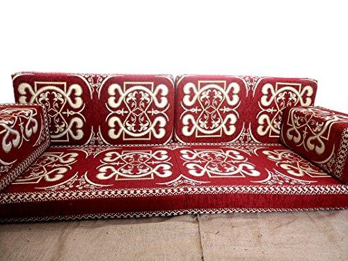 asientos de piso, cojines de piso, asientos árabes, cojines árabes, sofá de piso, asientos orientales, muebles, majlis, jalsa, sofá de piso, sofá árabe - MA 5