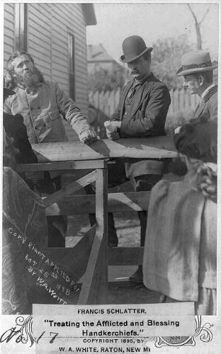 Photo: Francis Schlatter,1856-96,faith-healer,treating afflicted,blessing handkerchiefs by Infinite Photographs