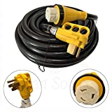 50amp rv cord - New 50 Foot 50A RV Extension Cord Adapter Shore Power NEMA 14-50P to SS2-50R