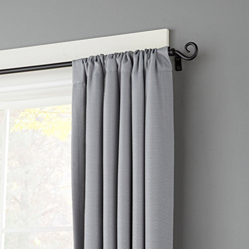 Kenney Medieval Hook Window Curtain Rod, 28 to 48-Inch, Black lovely