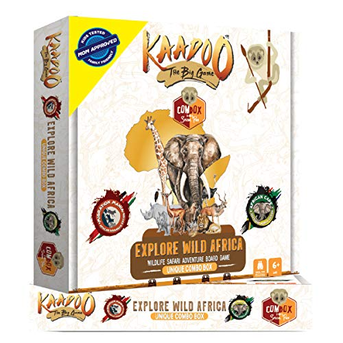 Kaadoo Explore Wild Africa Wildlife Safari Adventure Board Game, White