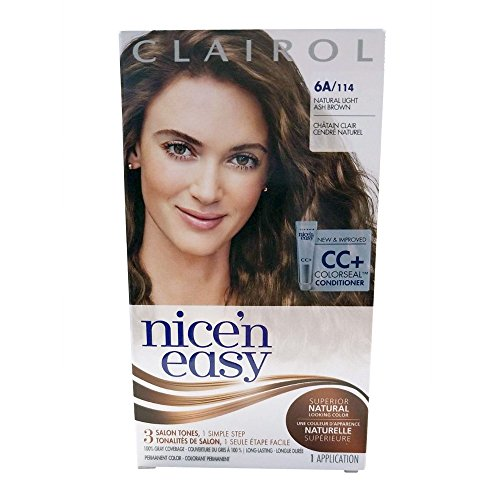 Clairol Nice 'n Easy, 6A/114 Natural Light Ash Brown, Permanent Hair Color, 1 Kit (Pack of 3) (Packaging may vary)