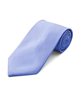ba87b5c3ace2 Amazon.com  Men s Poly Satin Periwinkle Color Solid Tie And Matching ...