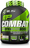 MusclePharm Combat Protein Powder - Essential blend of Whey, Isolate, Casein and Egg Protein with BCAA's and Glutamine for Recovery, Cookies 'N' Cream, 4 Pound